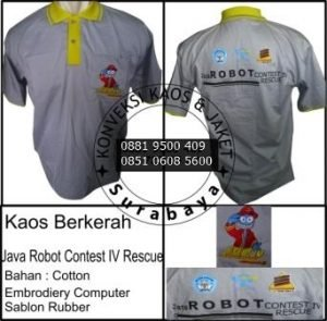 Bikin Kaos Berkerah, Konveksi Surabaya