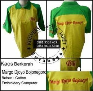 Order Kaos Berkerah Soft Cotton, Konveksi Surabaya