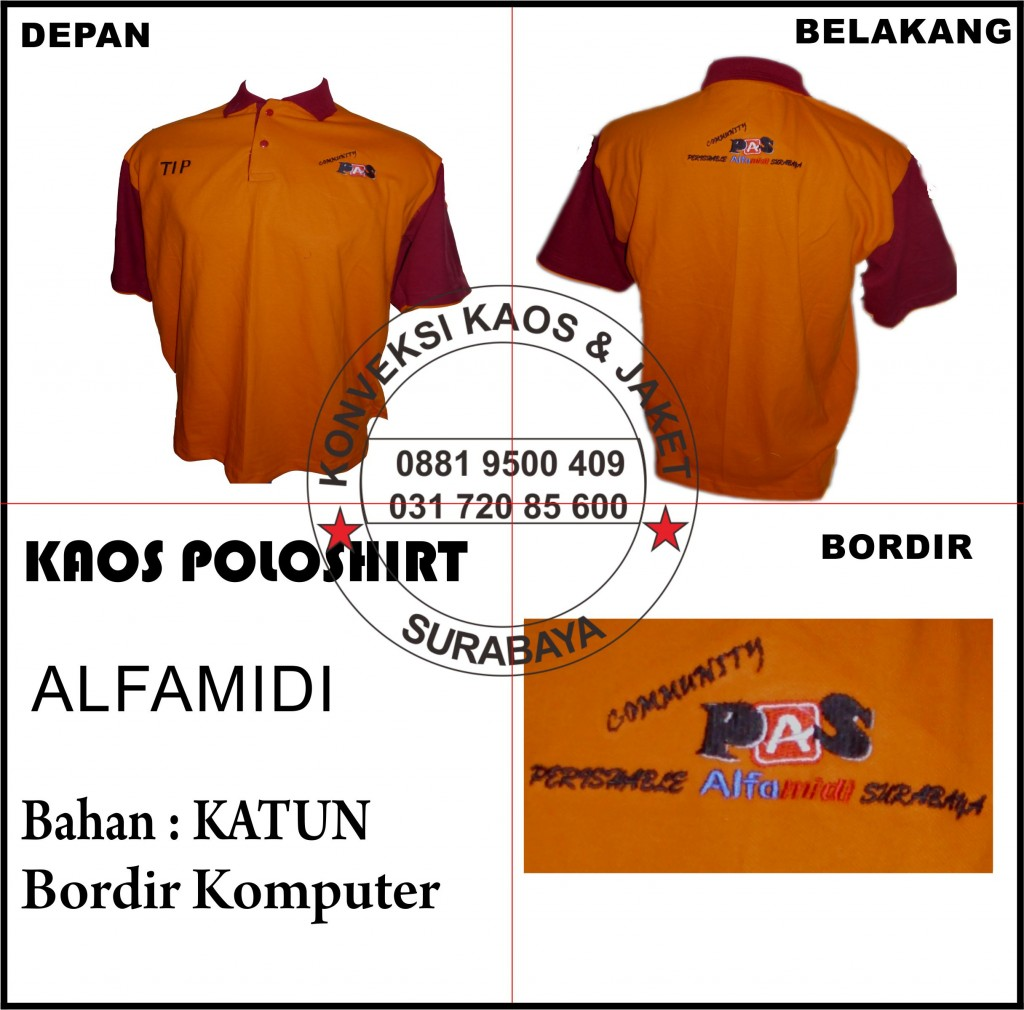 Pesan Kaos Polo Bordir di Surabaya