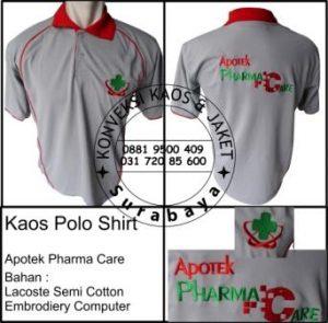 Kaos Polo Shirt Apotek Pharma Care