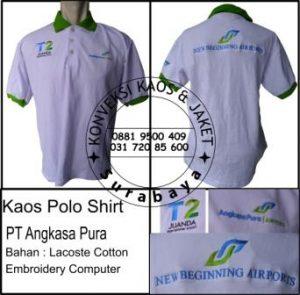 Kaos polo shirt PT Angkasa Pura